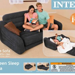 Air Mattress Pull Out Sofa Beds Leather Modern Bed Intex Inflatable 2 Person Energywarden
