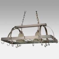 15 Collection of Pot Rack With Lights Fixtures