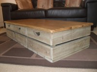 2018 Popular Rustic Square Coffee Table With Storage