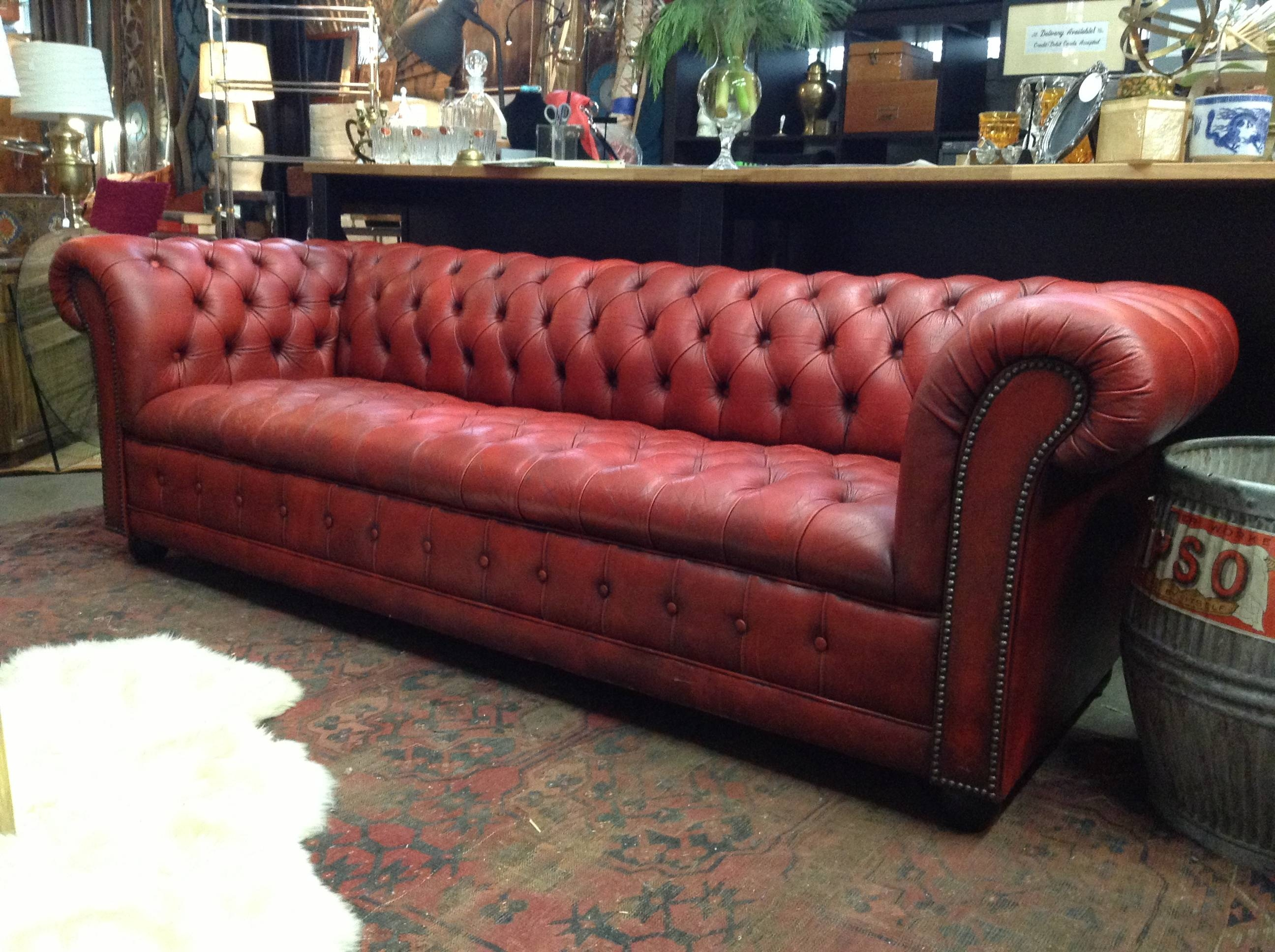 home decorators tufted sofa kivik corner uk 15 best collection of red leather chesterfield sofas