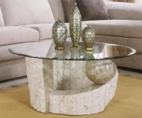 2018 Popular Stone and Glass Coffee Tables