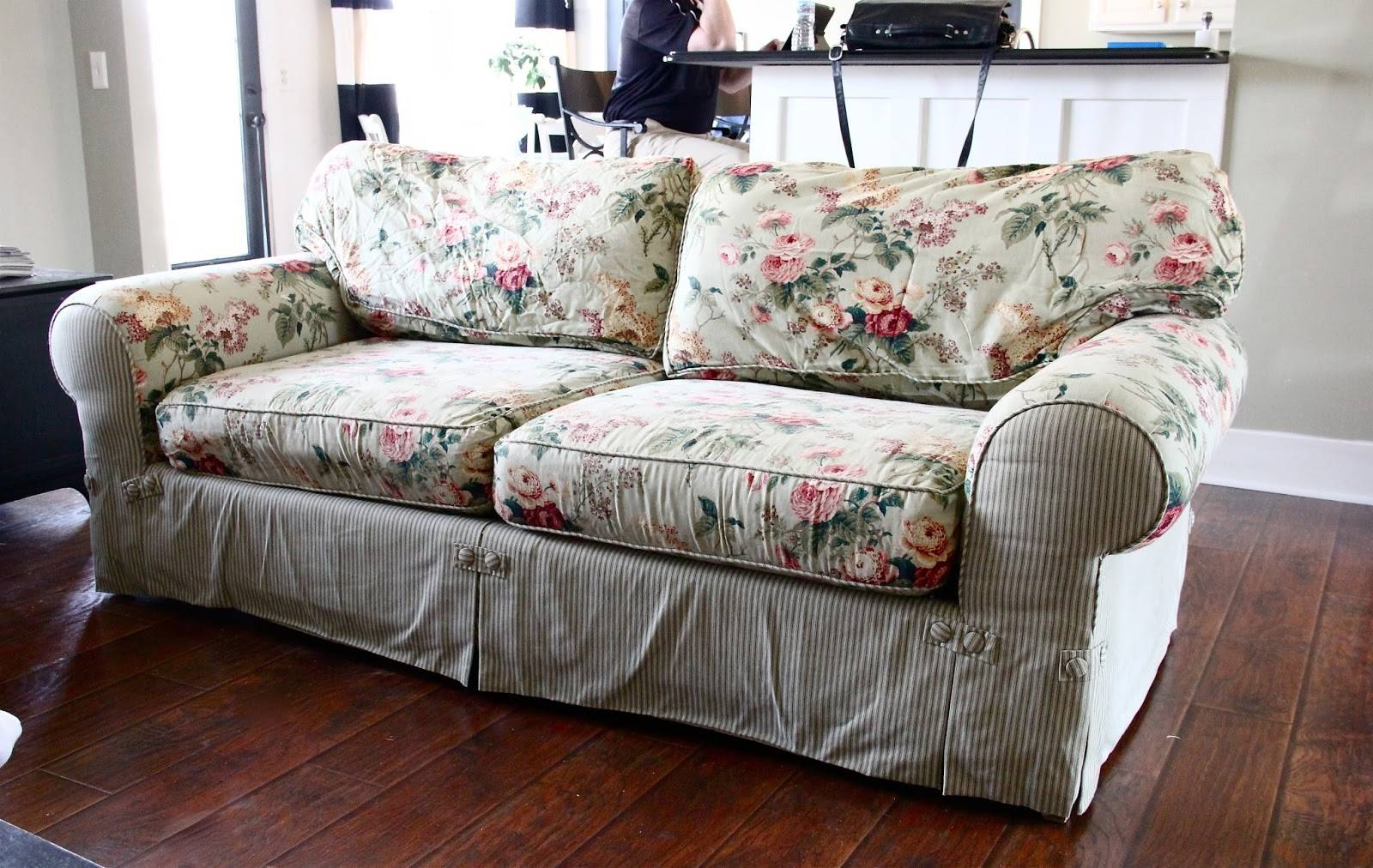 cheap yellow chair covers revolving cover the best floral sofa slipcovers