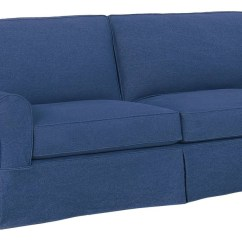 Blue Denim Sofa Bed Oversized Reclining Slipcovers Cream Colored Leather And