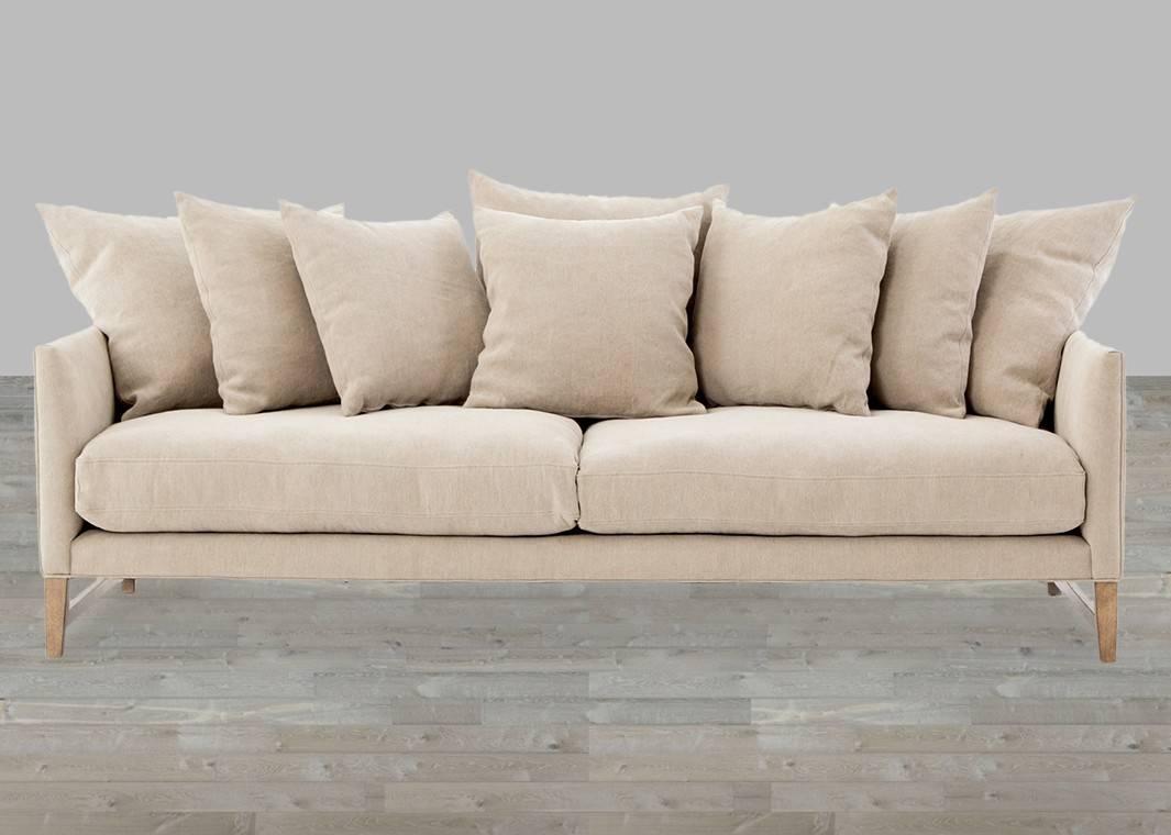 Loose Pillow Back Sofa Sm6201 Gray Loose Pillow Back Multi