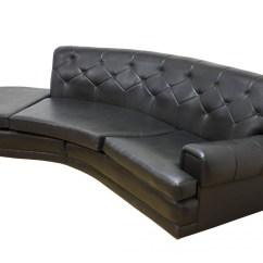 Vinyl Sectional Sofa Scs Bed Clearance Best 15 43 Of Black Sofas