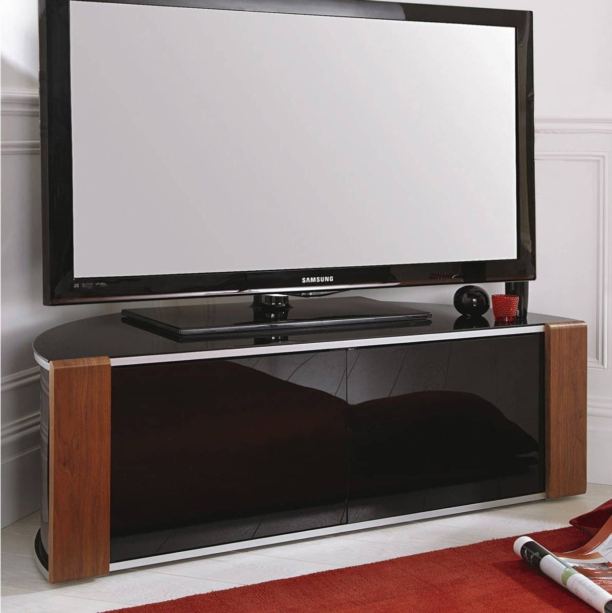 Best 15 of Black Corner Tv Cabinets With Glass Doors