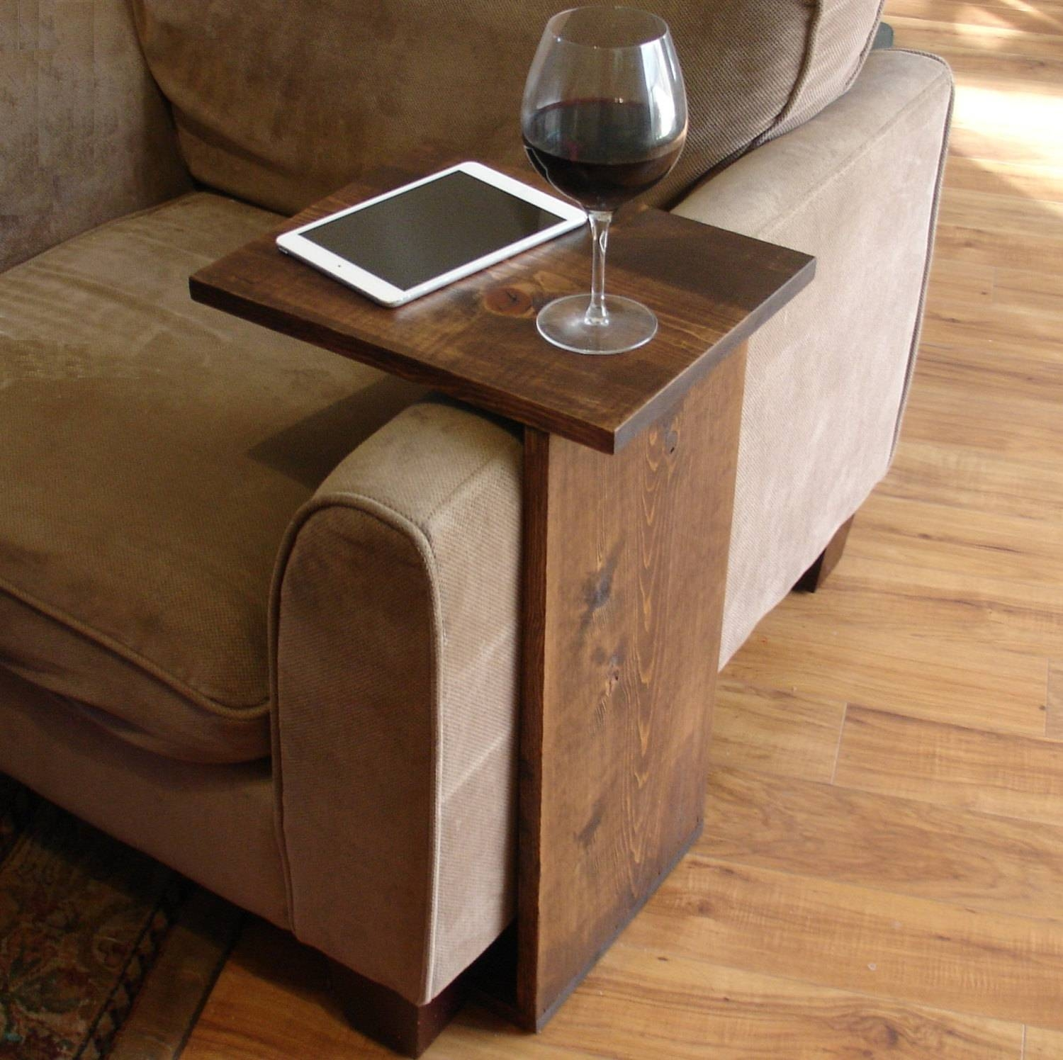 table under sofa chestnut leather 15 best ideas of tray tables