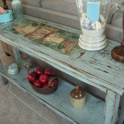 Farmhouse Sofa Table Plans Barcalounger Shabby Chic Uttermost Distressed Console