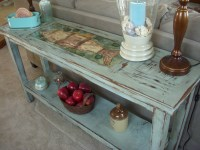 Shabby Chic Sofa Table Uttermost Distressed Console Table ...