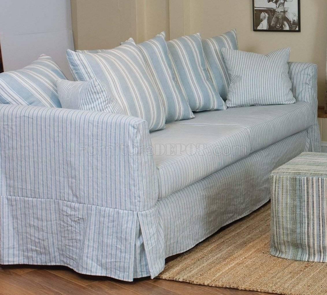 striped sofa rattan sofas indoor slipcovers sure fit grainsack stripe