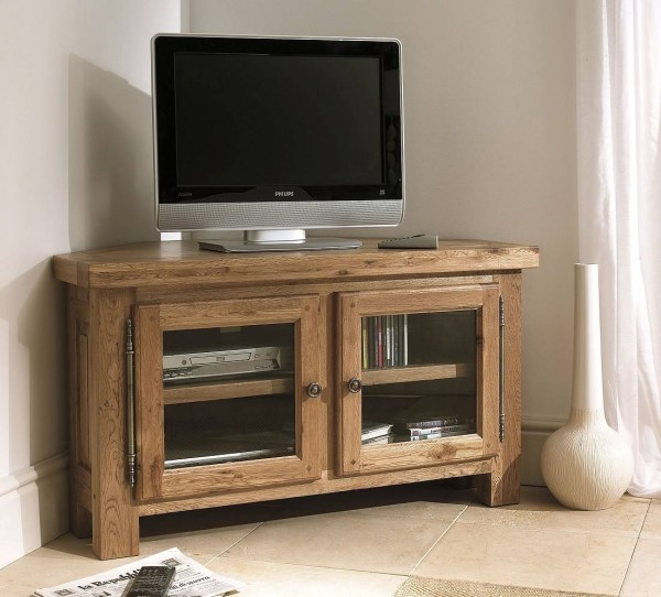 Oak Corner TV Cabinet Furniture