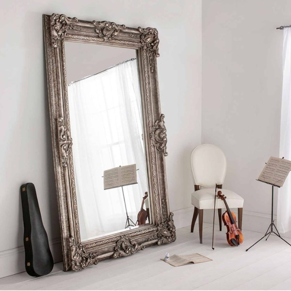 Antique French Floor Standing Mirror