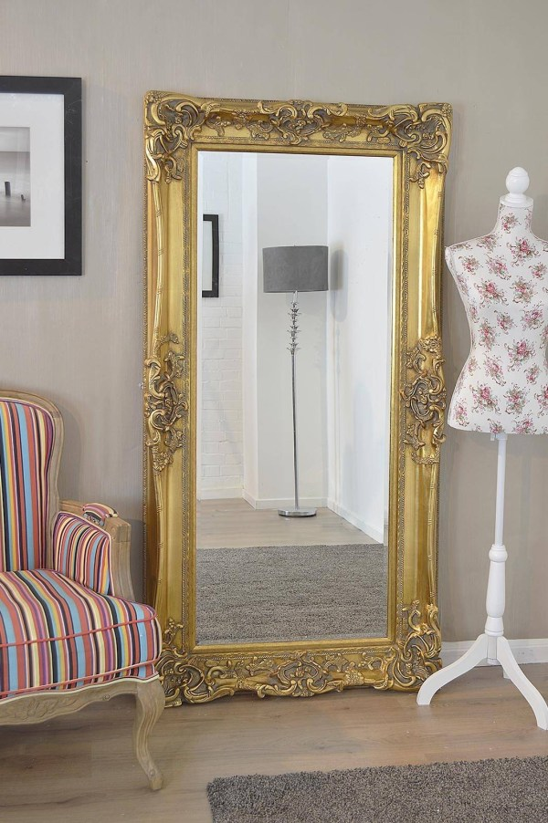 Large Antique Gold Wall Mirror