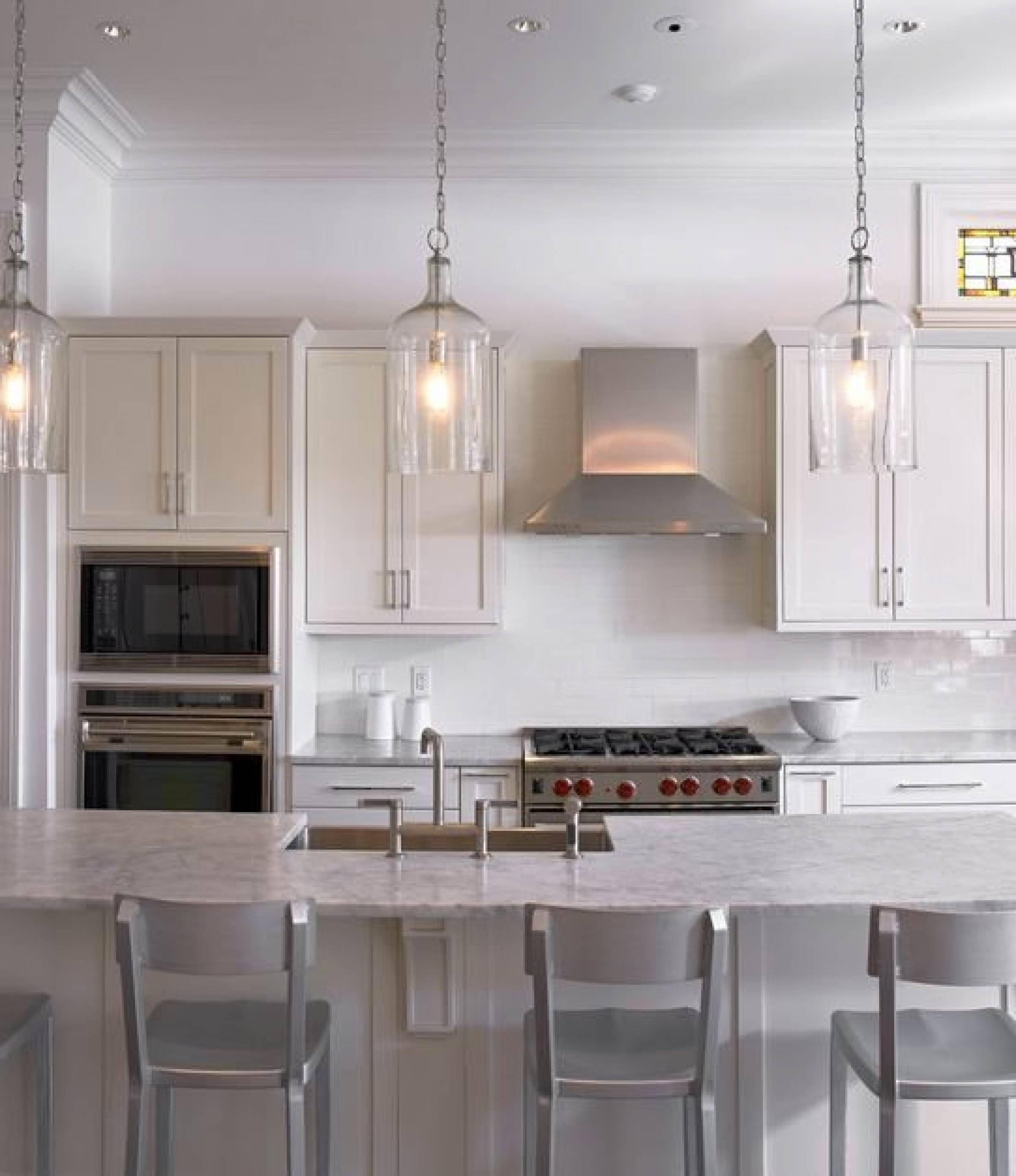 copper pendant light kitchen nook sets with storage 15 best collection of lighting over island