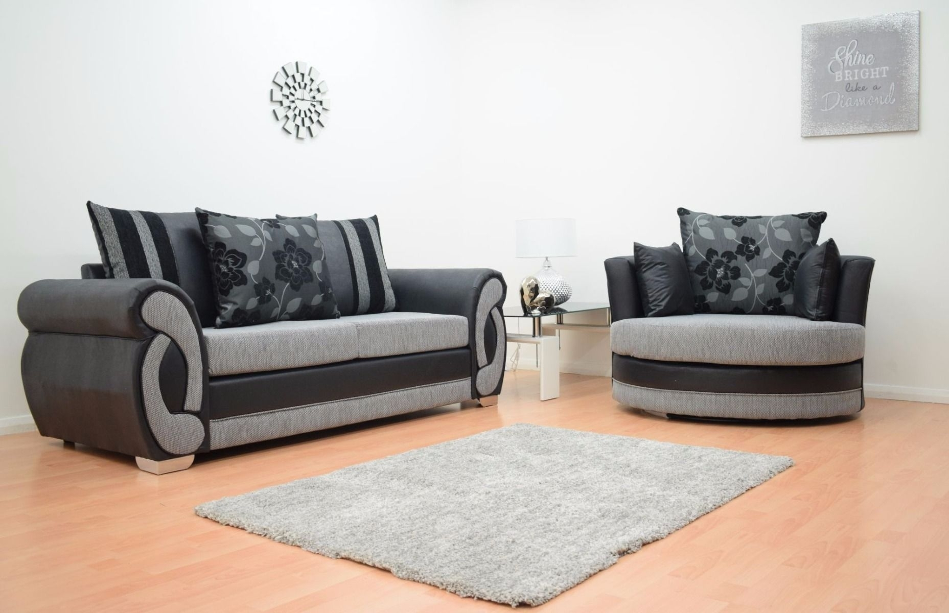 black 3 seater sofa and cuddle chair wayfair twin sleeper 10 best collection of sofas chairs