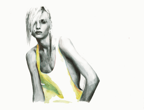 There's a crack in my soul, you thought was a smile (Portrait of Andrej Pejic)