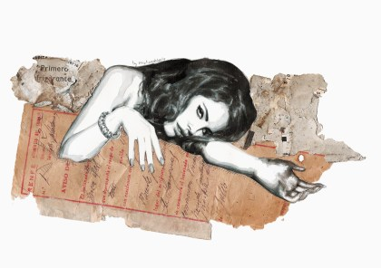 Burning poetry (Portrait of Lana del Rey)