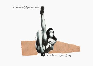 If someone judges your way lend them your shoes (portrait of Dita Von Teese)