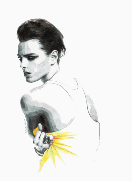 Not afraid to close my ayes (Portrait of Erika Linder)