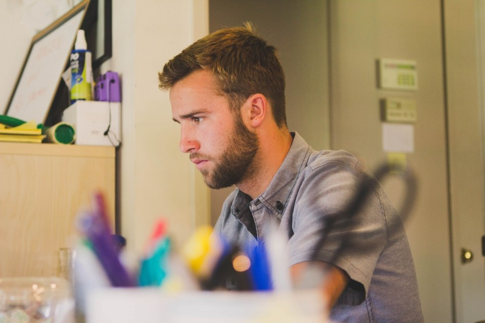 Employee uses his talent management software