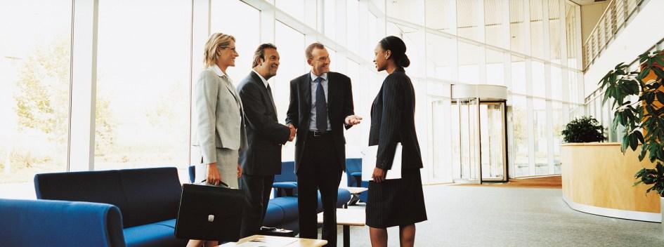 Four executives meeting