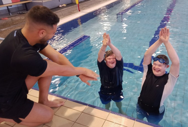 Showing Mentoring all Men swimming class