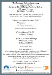 invitation community business invite student townhall hall town partnership support