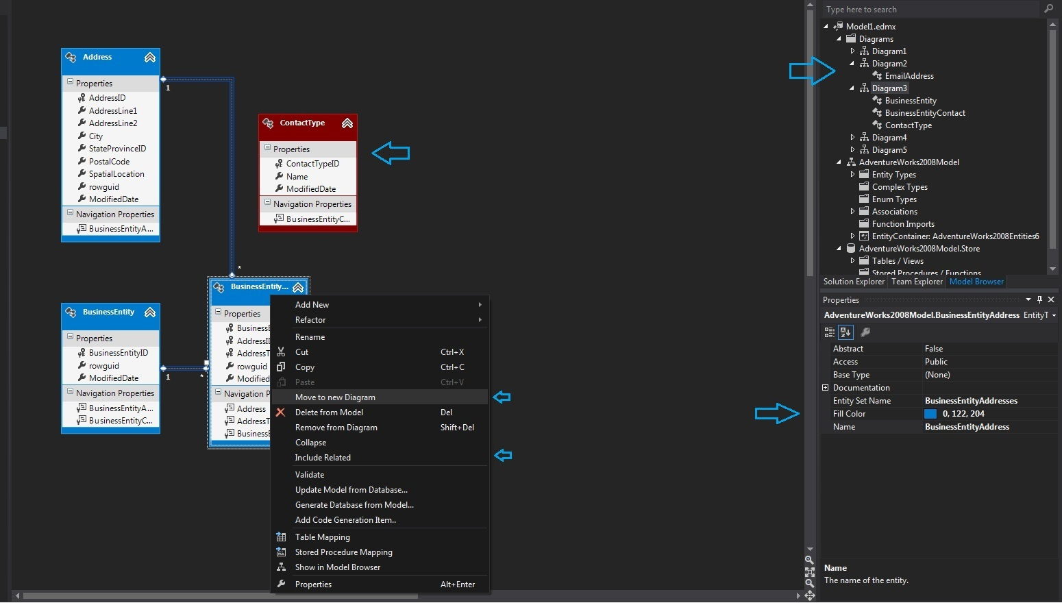 visual studio view class diagram fuse board wiring what 39s new in entity framework 5 mentormate