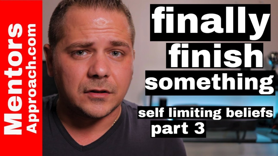 "I'm good at starting projects but never finishing a project | Self limiting beliefs ""part 3"""
