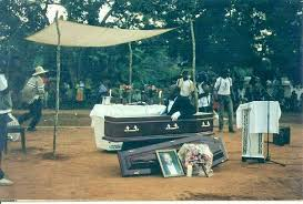 Drama As Mourners Run On Seeing Dead Man Sits Up In Coffin Few Minutes To Be Buried