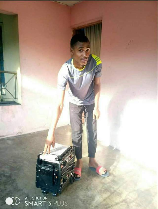 22-Year-Old Nigerian Tech Enthusiast Manufactures Rechargeable Generating Set