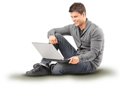 Image-student at laptop