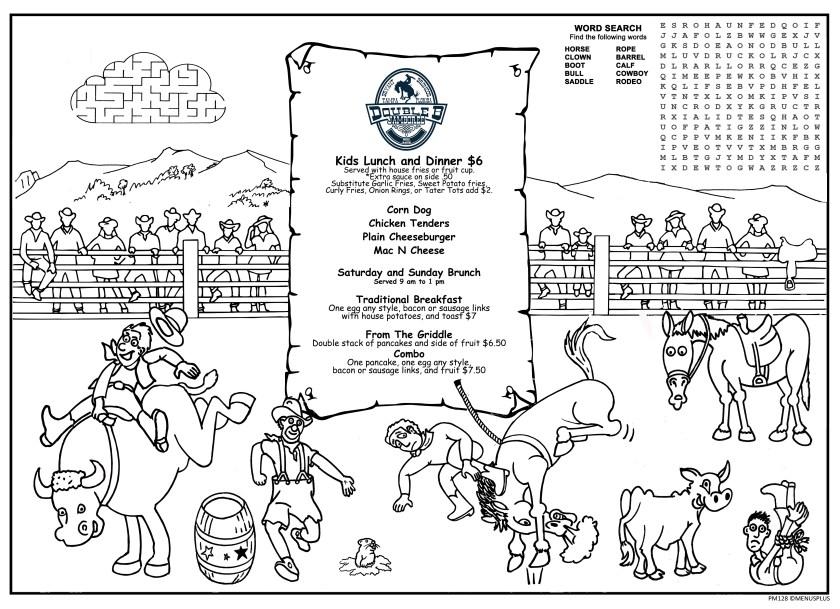 children's menus  kid's coloring menus for restaurants
