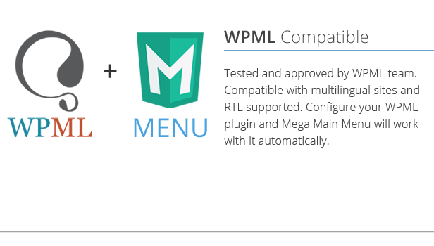 Mega Main Menu compatible with WPML