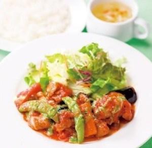 ガスト チキンと野菜のトマト煮ランチ