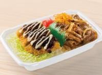 ほっともっと「ソースマヨかつ&カルビ焼肉コンビ弁当」