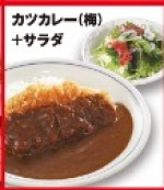 かつやの600円ランチ「カツカレー(梅)+サラダ」