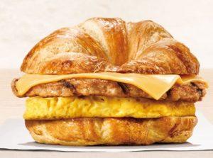 バーガーキング「ソーセージエッグチーズクロワッサンドイッチ」