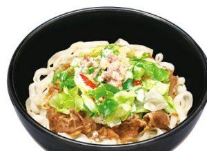 すき家のシーザーレタス牛麺