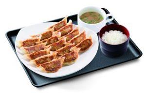 リンガーハット「ぎょうざ定食(15個)」