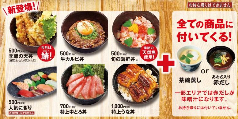 くら寿司のランチメニュー