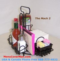 MACH-1  Condiments Holder & Menu Holder All-In-One ...