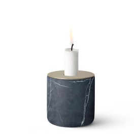 chunk marble black candle