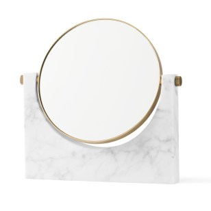 pepe marble mirror brass white side