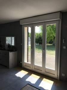 Porte fenêtre troi vantaux