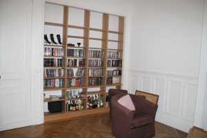 Bibliotheque chêne massif
