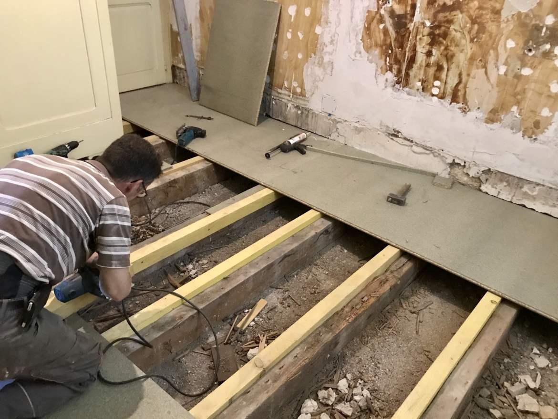 Reprise de plancher bois