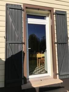 Porte fenêtre vitrée
