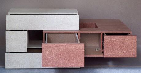 petit meuble design en bois precieux