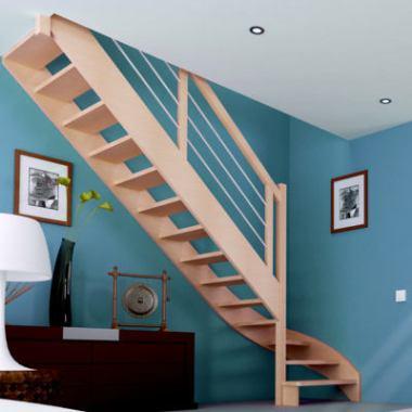 Exemple d'escalier 1/4 tournant